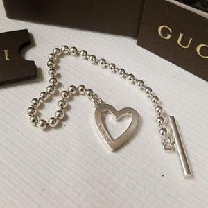 Gucci Heart Toggle Bracelet sz 7.5